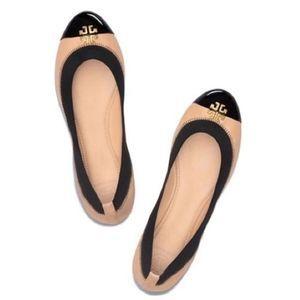 Tory Burch Jolie Color Block Leather Ballet Flats